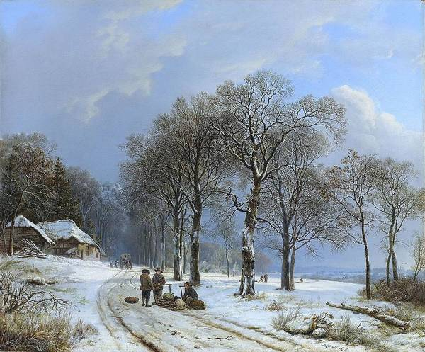 Wall Art - Painting - Winter Landscape by MotionAge Designs