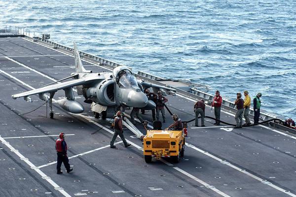 Photograph - An Av-8b+ Harrier II Jet Aboard by Daniele Faccioli
