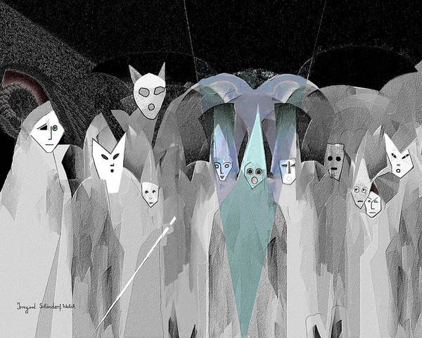Trick Or Treat Digital Art - 2950  Trick Or Treat by Irmgard Schoendorf Welch