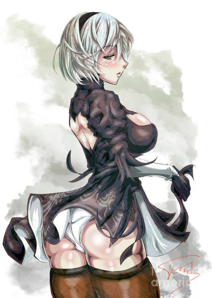 Booty Drawing - 2B by Tuan HollaBack