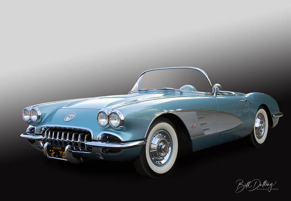 Photograph - 1958 Corvette  by Bill Dutting