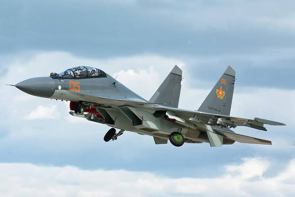 Wall Art - Photograph - A Kazakhstan Air Defense Forces Su-30sm by Daniele Faccioli