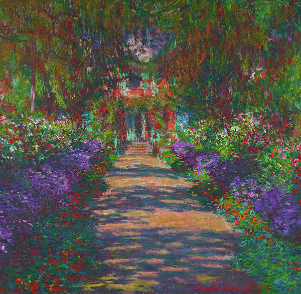 Wall Art - Painting - A Pathway In Monet's Garden, Giverny by Claude Monet