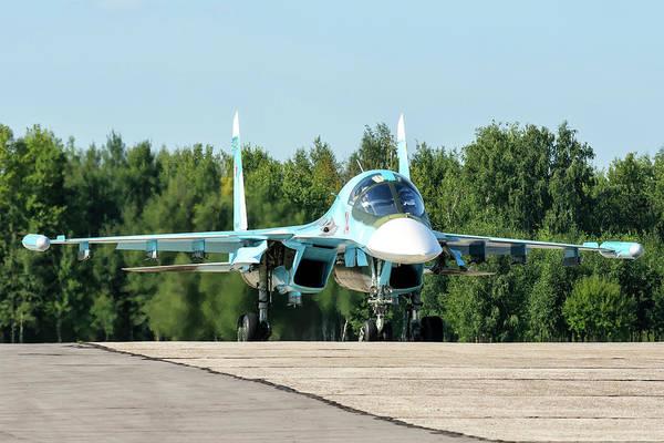 Wall Art - Photograph - A Russian Aerospace Forces Su-34 by Daniele Faccioli