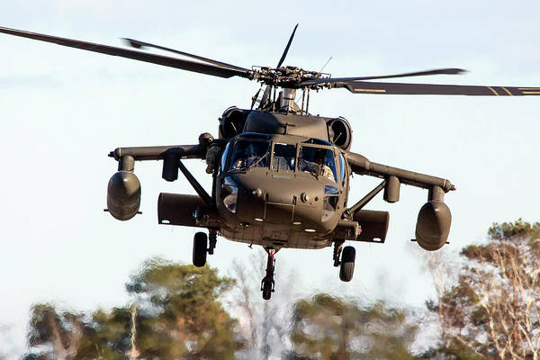 Photograph - A Uh-60m Black Hawk Helicopter Of U.s by Timm Ziegenthaler