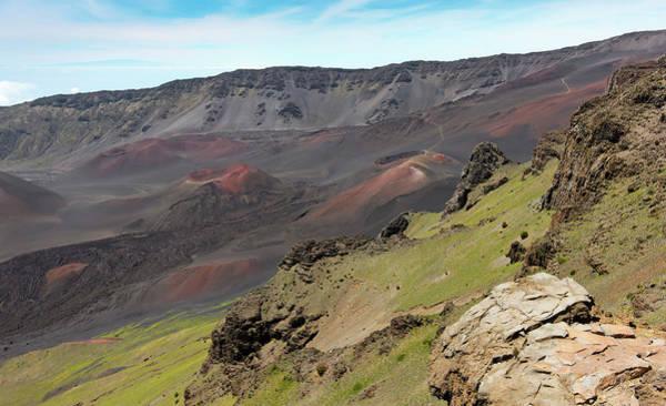 Haleakala Crater Photograph - A View Of Haleakala National Park, Maui, Hawaii by Derrick Neill