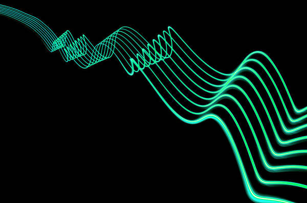 Parallels Wall Art - Photograph - Abstract Colored Light Trails With by John Rensten