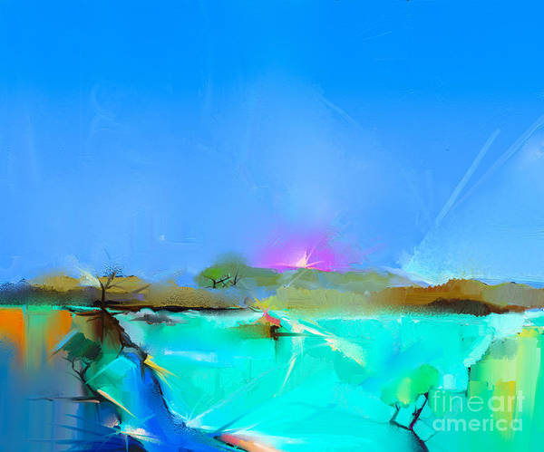 Wall Art - Digital Art - Abstract Colorful Oil Painting by Pluie r