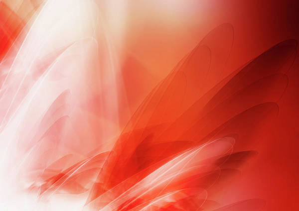 Spooky Digital Art - Abstract Image Of Red Swirling Clouds by Aeriform