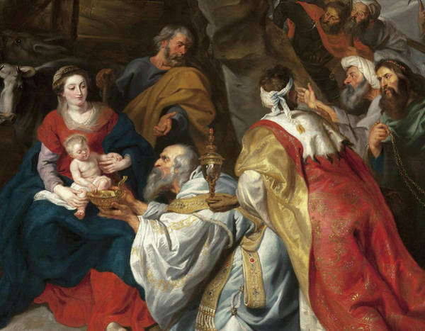 Wall Art - Painting - Adoration Of The Magi by Peter Paul Rubens