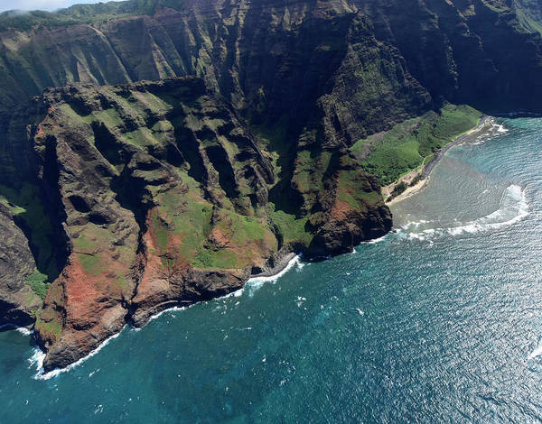 Photograph - Aerial View Of Na Pali Coast, Kauai by Ryan Rossotto