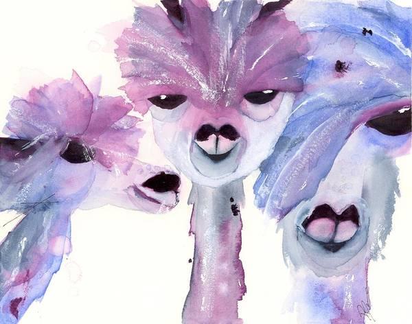 Painting - 3 Alpacas by Dawn Derman