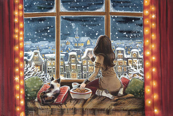 Trimming Painting - Amsterdam Winter by Ema Malyauka