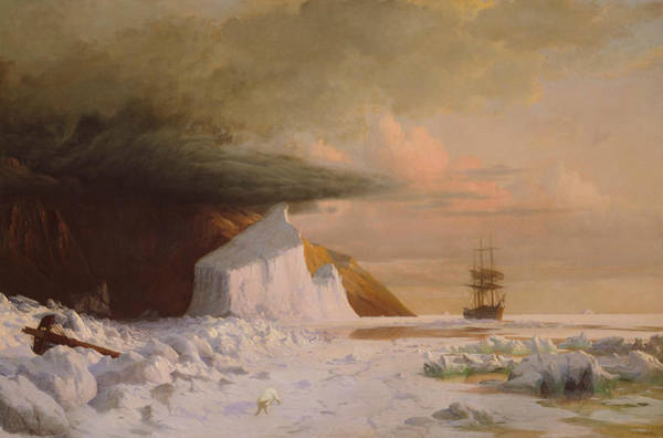 Painting - An Arctic Summer - Boring Through The Pack In Melville Bay by William Bradford