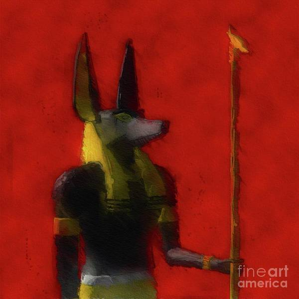 Wall Art - Painting - Anubis, God Of Egypt by Raphael Terra