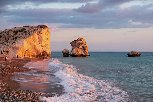 Stone Wall Art - Photograph - Aphrodite's Birthplace Or Petra Tou Romiou In Cyprus by Iordanis Pallikaras