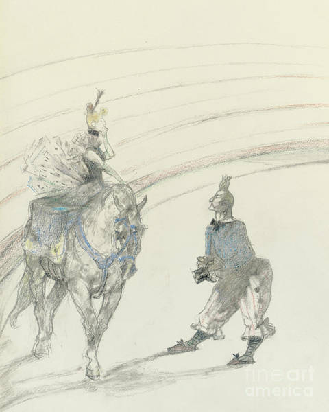 Wall Art - Drawing - At The Circus by Henri de Toulouse-Lautrec