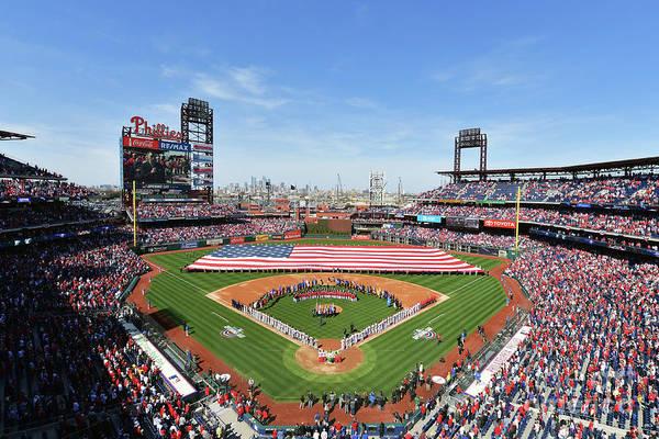 Photograph - Atlanta Braves V Philadelphia Phillies by Drew Hallowell