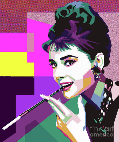 Wall Art - Mixed Media - Audrey Hepburn by Nilton Joao
