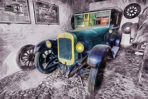 Digital Art - Austin Seven by Ian Mitchell