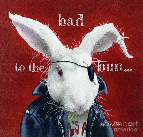 Wall Art - Painting - Bad To The Bun... by Will Bullas