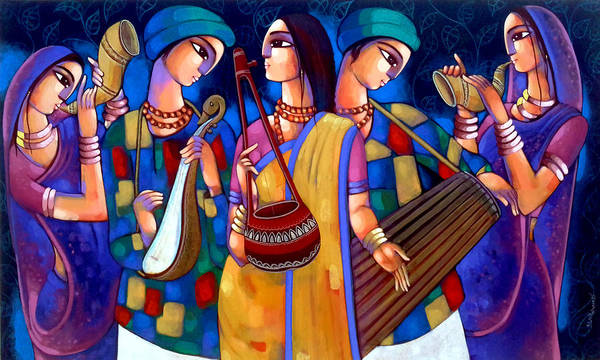 Painting - Baul by Sekhar Roy