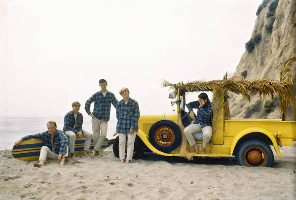 Love Photograph - Beach Boys At The Beach by Michael Ochs Archives