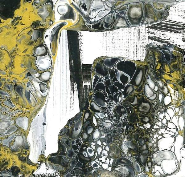 Painting - Black White And Gold by Angelika GAIGL