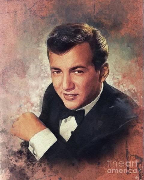 Wall Art - Painting - Bobby Darin, Music Legend by John Springfield