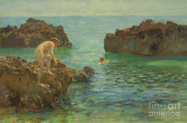 Wall Art - Painting - Boys Bathing  by Henry Scott Tuke