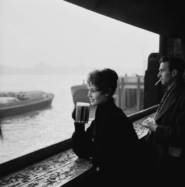 Drinking Glass Photograph - Brigitte Bardot by Popperfoto
