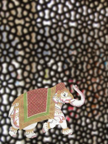 Caparisoned Elephants  Art Print