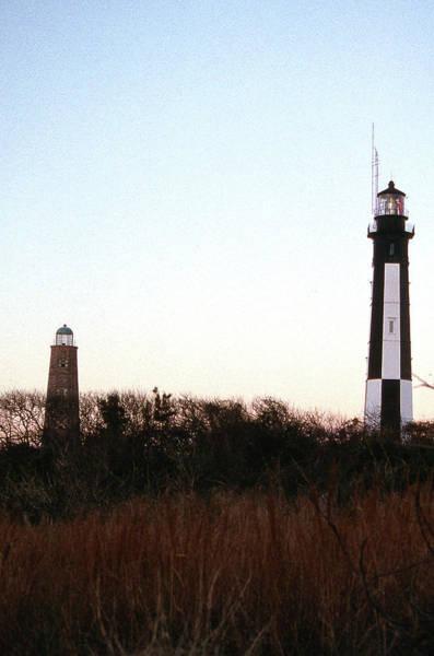 Virginia Lighthouse Photograph - Cape Henry Lighthouses Va by Skip Willits