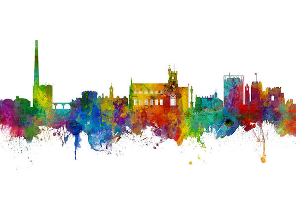Wall Art - Digital Art - Carlisle England Skyline by Michael Tompsett