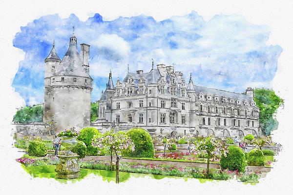 Et Digital Art - Castle #watercolor #sketch #castle #tower by TintoDesigns