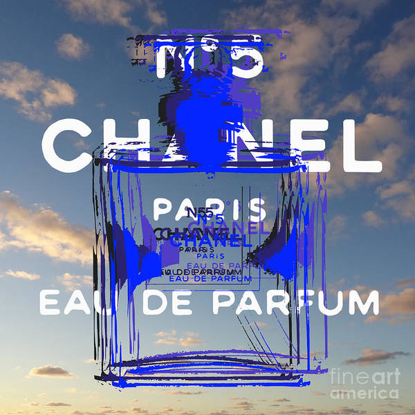 Digital Art - Chanel No 5 Pop Art by Jean luc Comperat