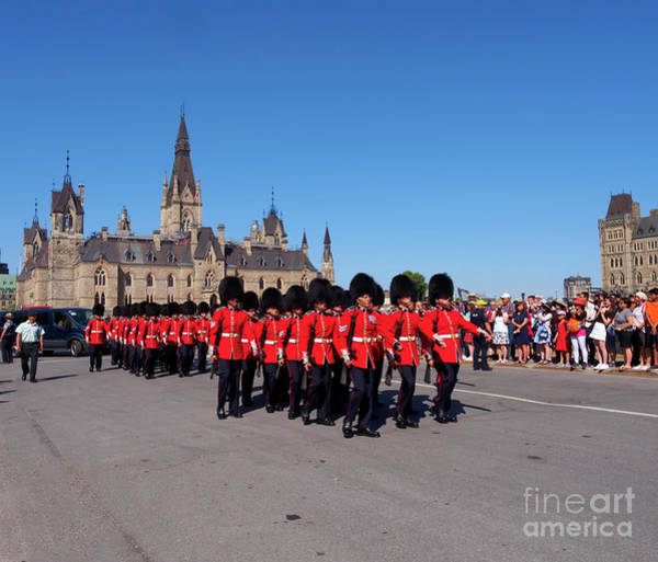 Wall Art - Photograph - Changing Of The Guard In Ottawa Ontario Canada by Louise Heusinkveld