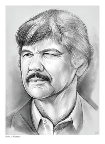 Charles Drawing - Charles Bronson by Greg Joens