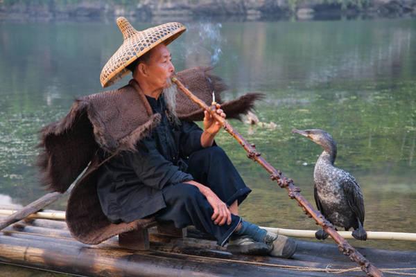 Raft Photograph - China, Guangxi Province, Yangshuo by Keren Su