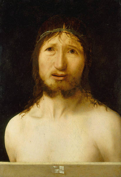 Wall Art - Painting - Christ Crowned With Thorns  by Antonello da Messina