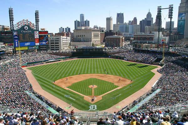 Photograph - Cleveland Indians V Detroit Tigers by John Grieshop