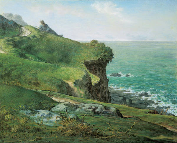 Wall Art - Painting - Cliffs Of Greville by Jean-Francois Millet