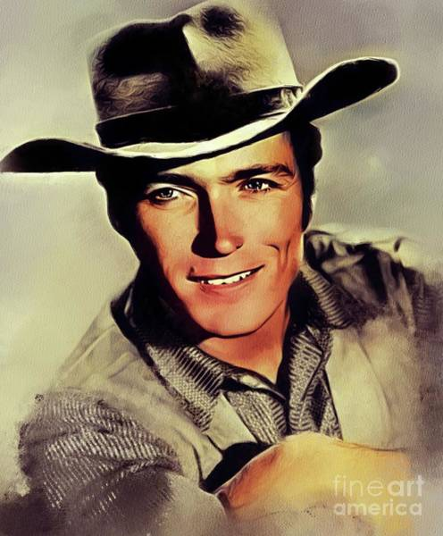 Wall Art - Painting - Clint Eastwood, Hollywood Legend by John Springfield