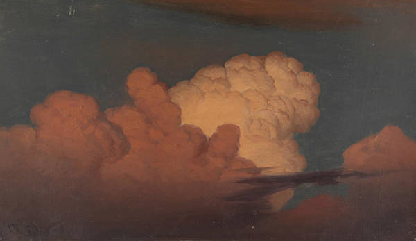 Painting - Cloud Study by Knud Baade
