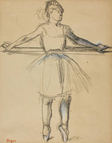 Drawing - Dancer At The Bar by Edgar Degas