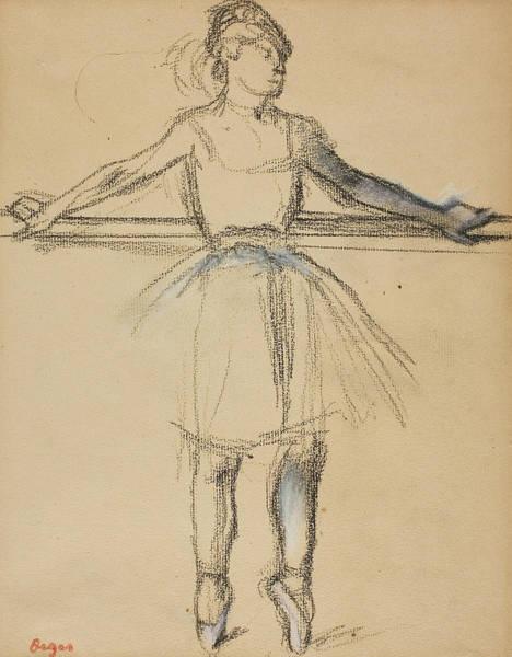 Wall Art - Drawing - Dancer At The Bar by Edgar Degas