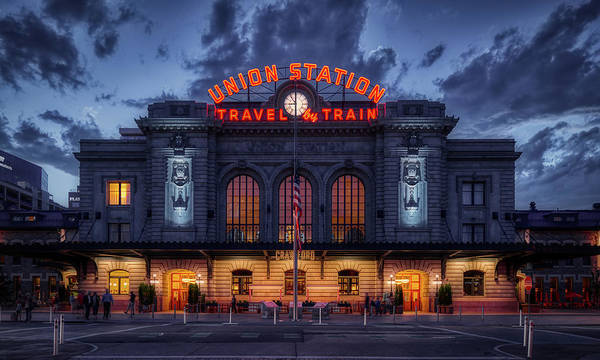Wall Art - Photograph - Denver's Union Station At Dusk by Mountain Dreams
