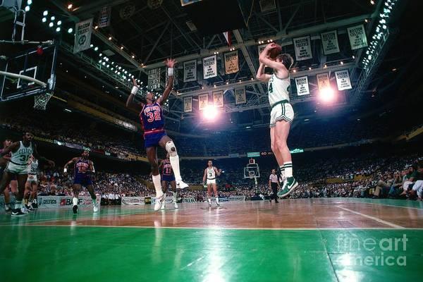 Photograph - Detroit Pistons Vs. Boston Celtics by Dick Raphael