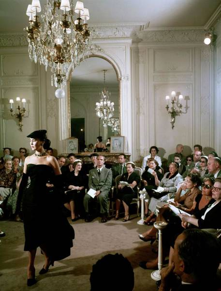 Fashion Model Photograph - Dior In France In The 1950s - by Kammerman