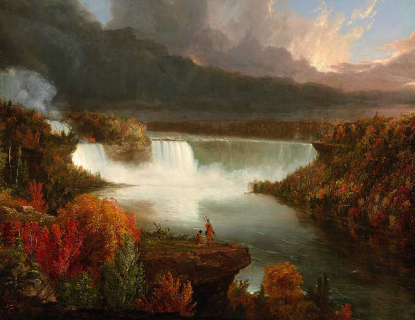Wall Art - Painting - Distant View Of Niagara Falls by Thomas Cole